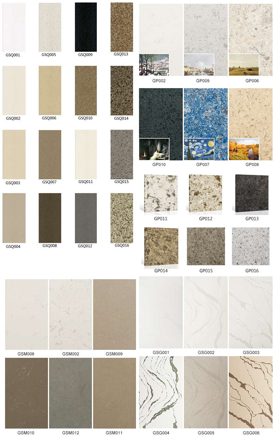 quartz stone color series